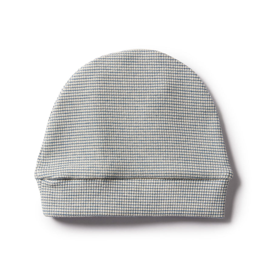 ECRU & ASH STRIPE RIB BEANIE - Wilson and Frenchy