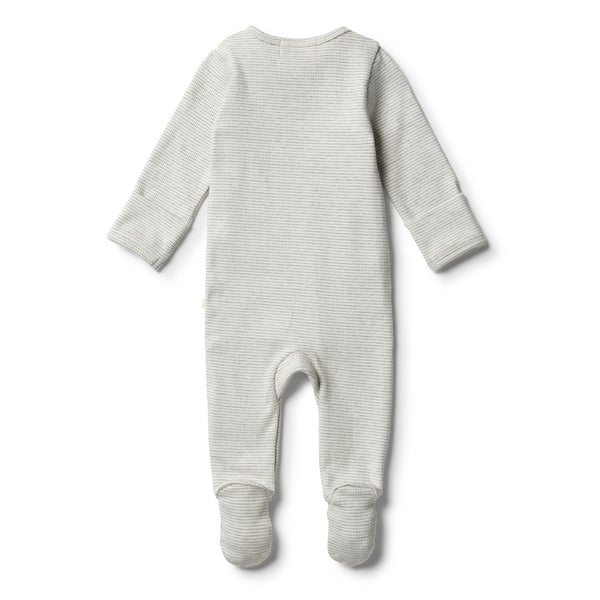 Organic Cloud Grey Zipsuit - Wilson and Frenchy