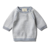 DUSTY BLUE TWO TONE JUMPER - Wilson and Frenchy