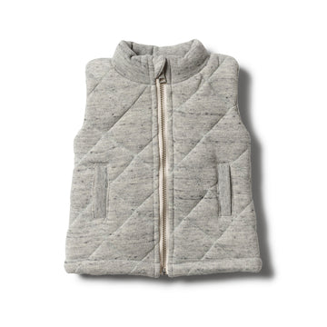 GREY FLECK QUILTED VEST - Wilson and Frenchy