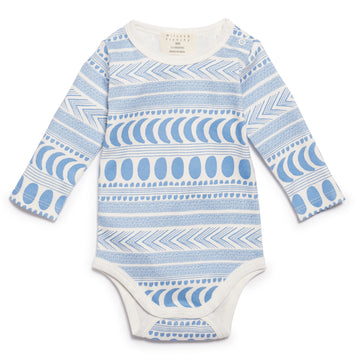 MOON AZTEC SLEEVE BODYSUIT-BODYSUIT-Wilson and Frenchy
