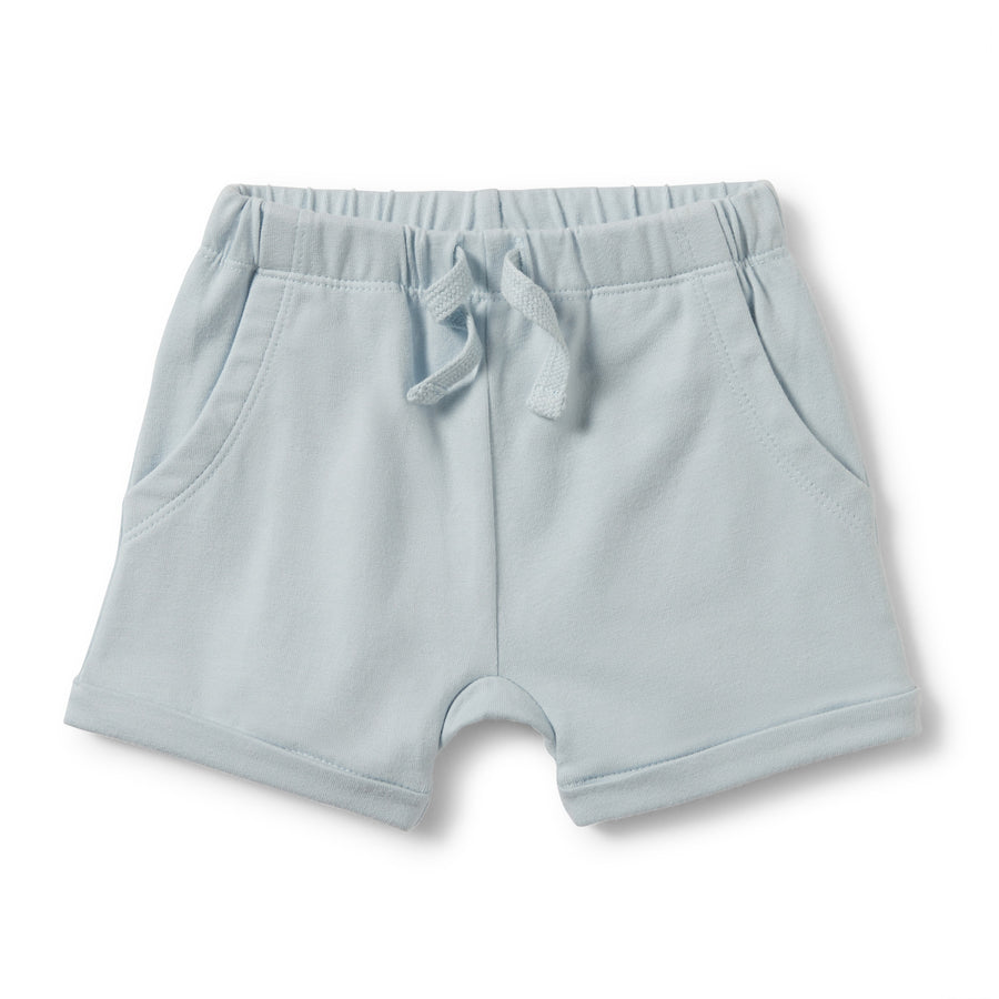 POWDER BLUE SLOUCH POCKET SHORTS-SHORTS-Wilson and Frenchy