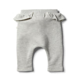 Oatmeal Speckle Ruffle Sweat Pant - Wilson and Frenchy