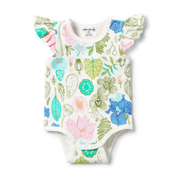 FLORA FLUTTER SLEEVE BODYSUIT-BODYSUIT-Wilson and Frenchy