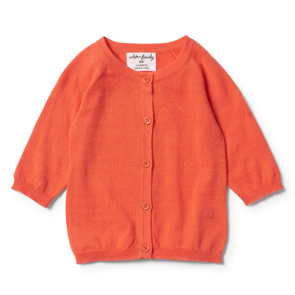 HOT CORAL SUMMER CARDIGAN - Wilson and Frenchy
