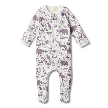 GIRLS WILD WOODS ZIPSUIT WITH FEET - Wilson and Frenchy