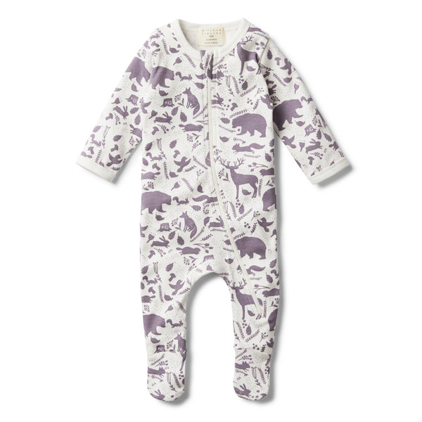GIRLS WILD WOODS ZIP SUIT WITH FEET - Wilson and Frenchy