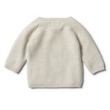 ICE GREY KIMONO KNITTED CARDIGAN - Wilson and Frenchy