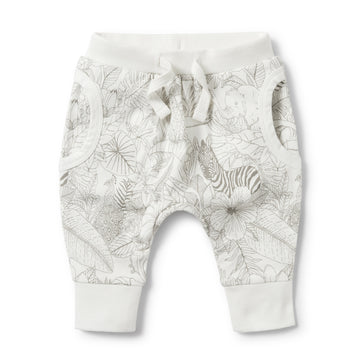 PEEKABOO POCKET SLOUCH PANT-Wilson and Frenchy