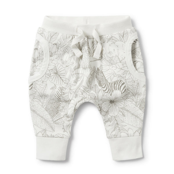 PEEKABOO POCKET SLOUCH PANT - Wilson and Frenchy