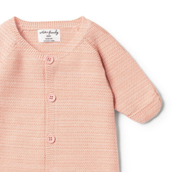 STRAWBERRY & CREAM KNITTED COCOON SLEEPER