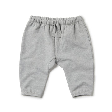 GREY MELANGE SLOUCH PANT - Wilson and Frenchy