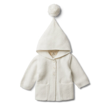 CLOUD HOODED JACKET WITH POM POM - Wilson and Frenchy