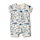 Organic Little Fin Boyleg Zipsuit - Wilson and Frenchy
