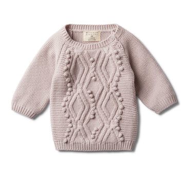 FAWN CABLE KNITTED POM POM JUMPER - Wilson and Frenchy