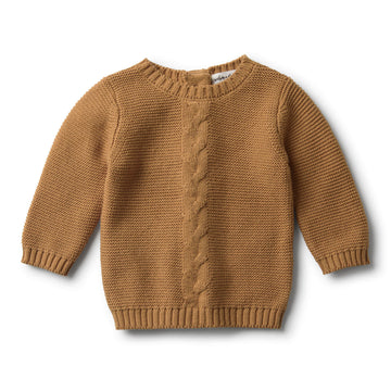 CARAMEL CABLE KNIT JUMPER - Wilson and Frenchy