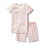 PINK ADVENTURE AWAITS SHORT SLEEVE PYJAMA SET