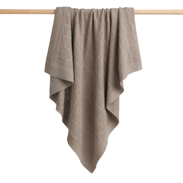 SMOKE GREY KNITTED BLANKET-Wilson and Frenchy