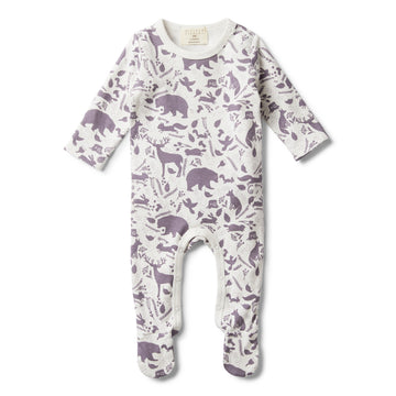 GIRLS WILD WOODS GROWSUIT WITH FEET - Wilson and Frenchy