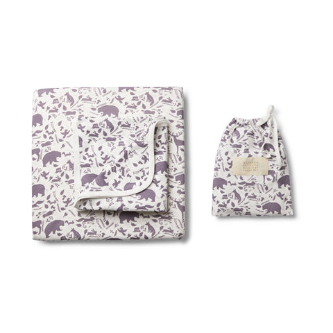 GIRLS WILD WOODS BASSINET SHEET SET - Wilson and Frenchy