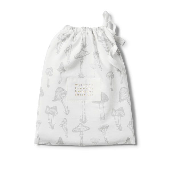 ORGANIC WILD MUSHROOM BASSINET SET - Wilson and Frenchy