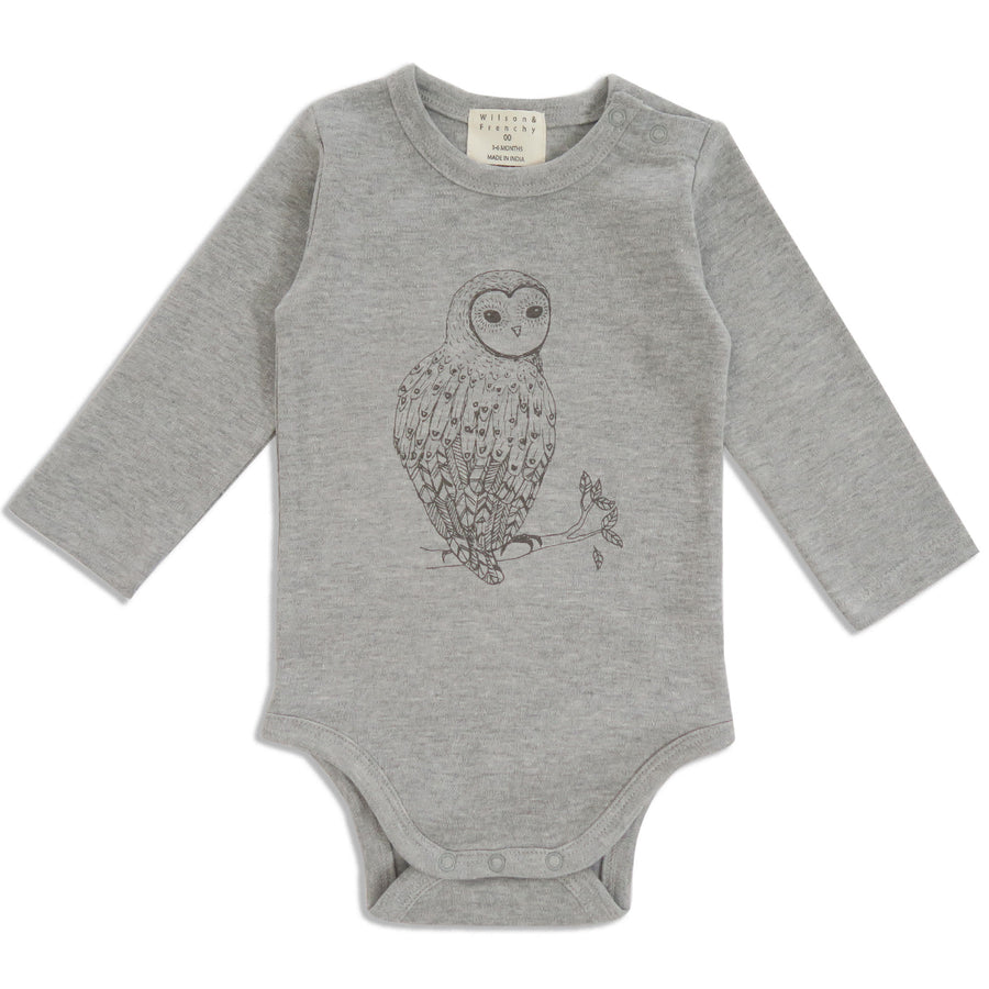 LITTLE OWL LONG SLEEVE BODYSUIT - Wilson and Frenchy