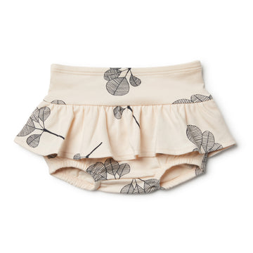 Organic Fan Leaf Nappy Pant with Ruffle - Wilson and Frenchy