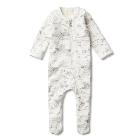 LITTLE ROW BOAT ZIP SUIT WITH FEET - Wilson and Frenchy