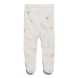 GLACIER STAR BRIGHT KNITTED LEGGING WITH FEET
