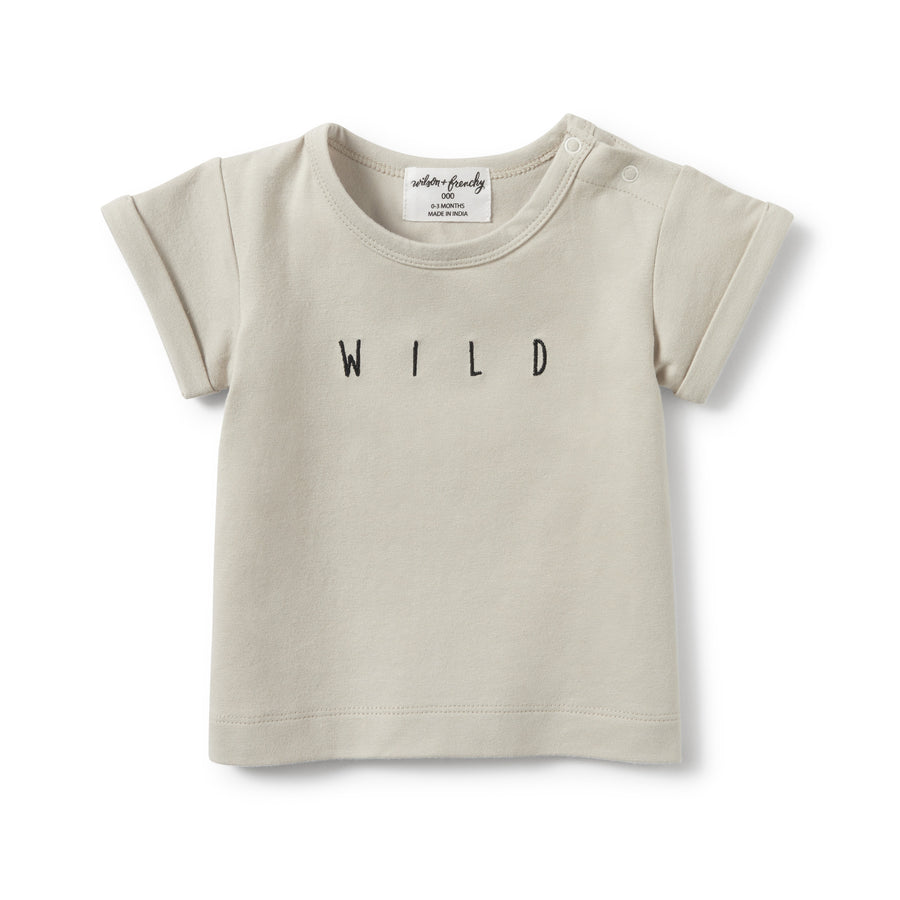 SILVER BIRCH WILD ROLLED CUFF TEE-Wilson and Frenchy