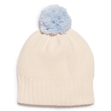 OATMEAL & CASHMERE BLUE KNITTED HAT - Wilson and Frenchy