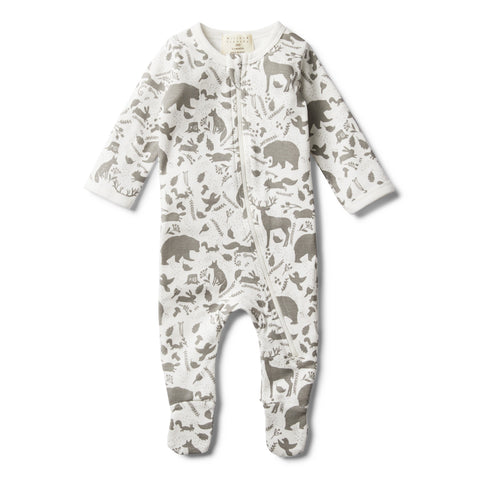 WILD WOODS ZIP SUIT WITH FEET - Wilson and Frenchy