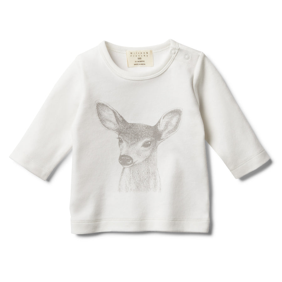 HELLO DEER LONG SLEEVE TOP - Wilson and Frenchy