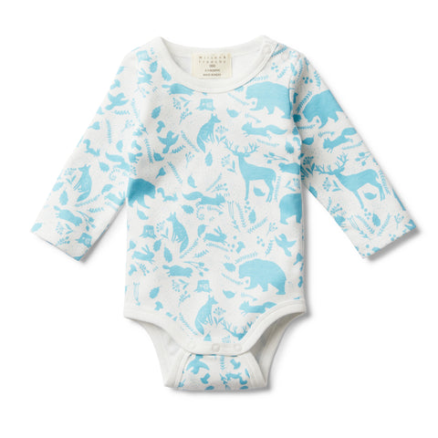 BOYS WILD WOODS LONG SLEEVE BODYSUIT - Wilson and Frenchy