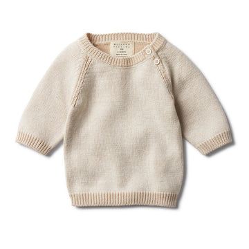 MUSHROOM TWO TONE JUMPER-KNITTED JUMPER-Wilson and Frenchy