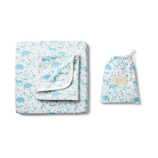 BOYS WILD WOODS BASSINET SHEET SET - Wilson and Frenchy