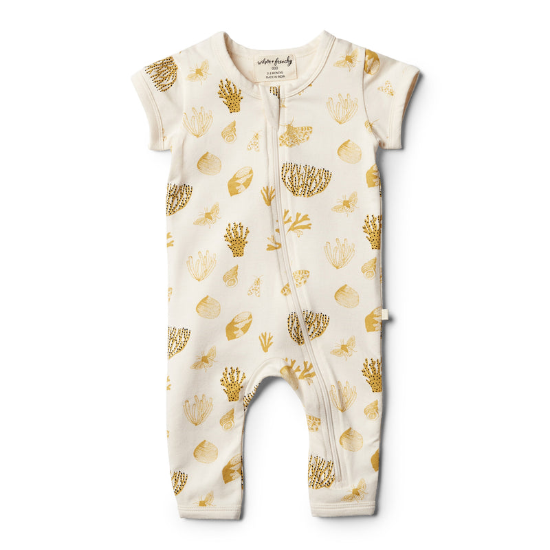 Organic Little Shell Zipsuit - Wilson and Frenchy