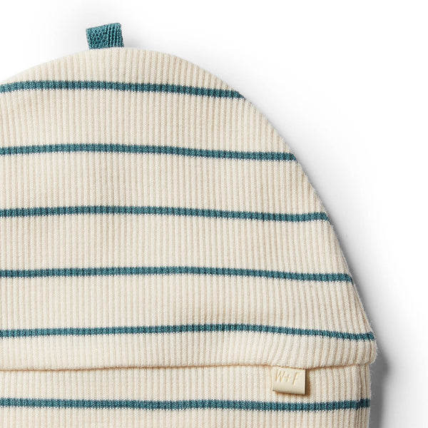 Organic Jungle Green Stripe Beanie