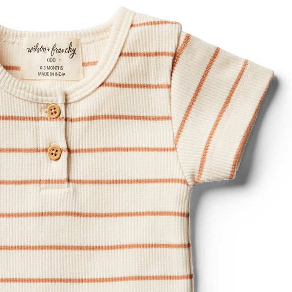 Organic Toasted Nut Stripe Tee