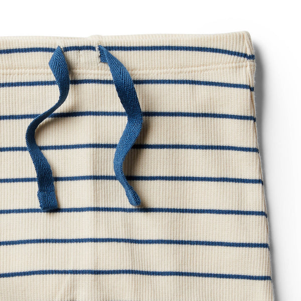 Organic Deep Blue Stripe Short