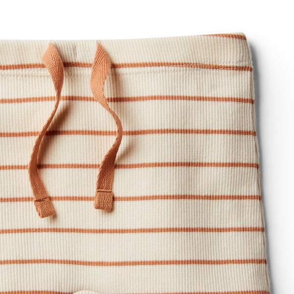 Organic Toasted Nut Stripe Short