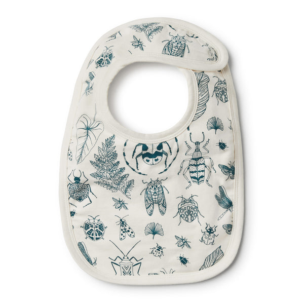 Organic Creepy Crawly Bib - Wilson and Frenchy