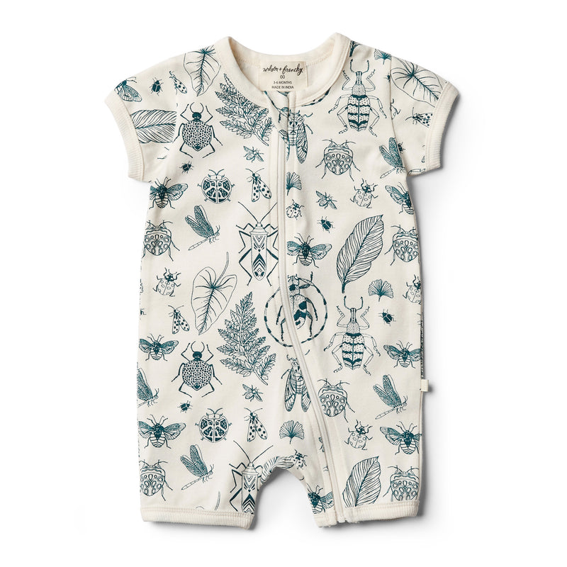 Organic Creepy Crawly Boyleg Zipsuit - Wilson and Frenchy