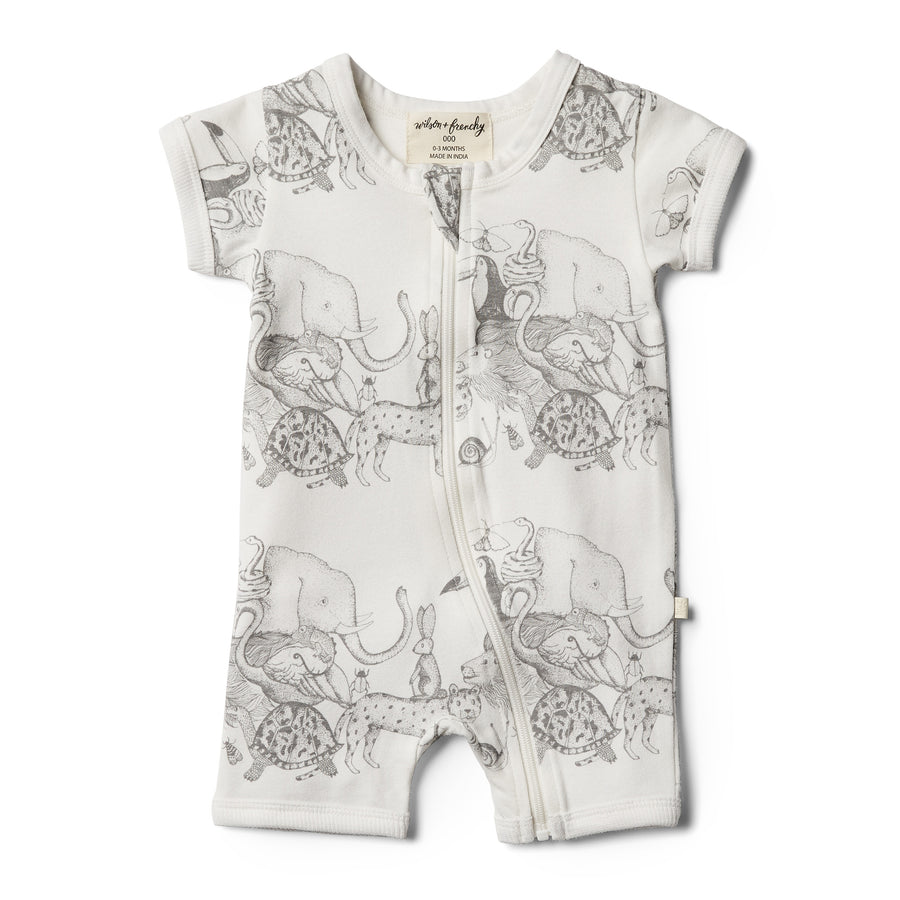 Organic Animalia Boyleg Zipsuit - Wilson and Frenchy