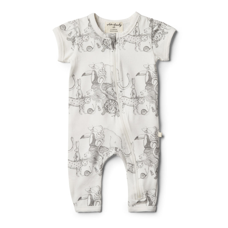 Organic Animalia Zipsuit - Wilson and Frenchy