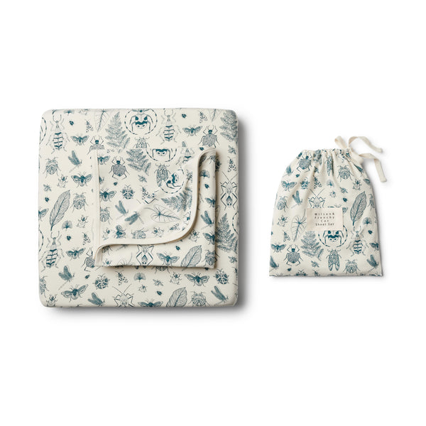 Organic Creepy Crawly Cot Set - Wilson and Frenchy