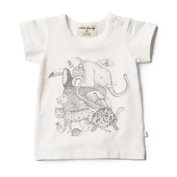 Organic Animalia Tee - Wilson and Frenchy