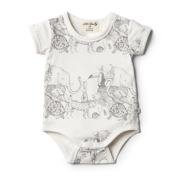 Organic Animalia Bodysuit - Wilson and Frenchy