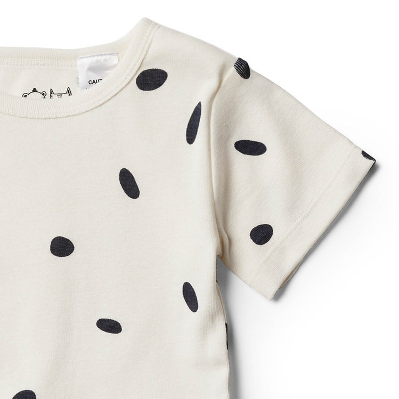 Organic Speckled Spots Short Sleeve Pyjama Set