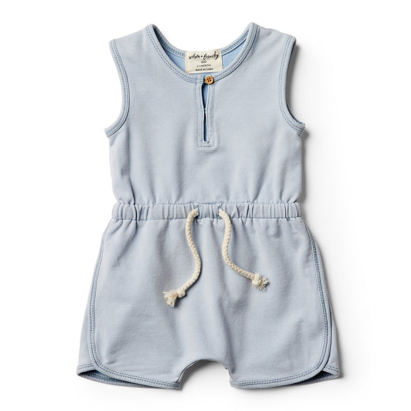 Knit Denim Playsuit - Wilson and Frenchy